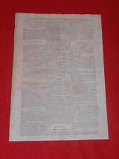 JOURNAL GAZETTE NATIONALE OU LE MONITEUR UNIVERSEL N° 325 MAR 20  NOVEMBRE 1792