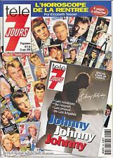 PROGRAMME TELEVISION *TELE 7 JOURS* JOHNNY HALLYDAY CELINE DION ANNIE CORDY / 98