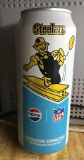 2018 Pittsburgh Steelers NFL Football 16 Ounce Pepsi Can FULL Retro