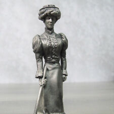 Pewter Gibson Girl Figure Croquet Franklin Mint Colonial America American People