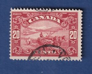 Canada stamps #157 20c Carmine KGV Scroll Issue Used F/VF NH