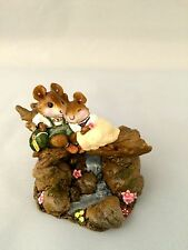 WEE FOREST FOLK MICE; SPECIAL CREATIVE HANDS MODERN COUPLE WITH MOUNTAIN STREAM