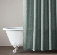 NIP Restoration Hardware Vintage Washed Belgian Linen Shower Curtain~Juniper~