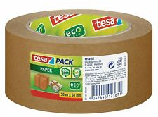 Tesa Paper Packaging Tape 50m x 50mm, Brown, Eco Logo, 60% bio-based material