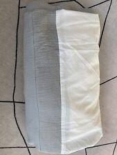 West Elm Queen Bed Skirt - light gray - Euc