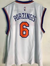 Adidas NBA Jersey New York Knicks Kristaps Porzingis White sz 3X