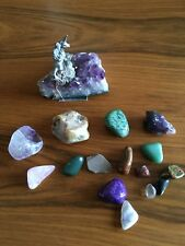 Amethyst Rocks Fossils Minerals Crystals Assorted Stones by Spoontiques