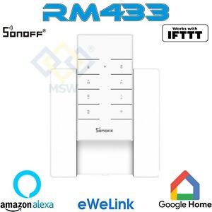 SONOFF WIFI Remote Control RM433 Telecomando 8 TASTI + SUPPORTO PARETE WIRELESS