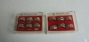 12 Serviettenringe Widmann Antik 835er Silber Handarbeit, Hildesheimer Rose TOP