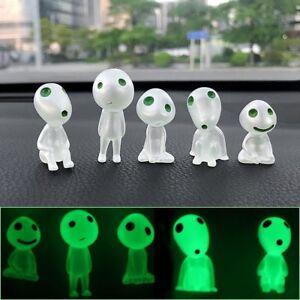 Car Glow In The Dark Dashboard Toy Decor Figure Green Alien Funny Home 5pcs/lot