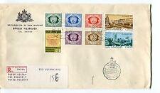 1977 FDC San Marino 100°francob. 100°ind. Romania  RACCOMANDATA First Day Cover
