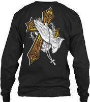 Praying Hands Best Christmas Gift Gildan Long Sleeve Tee T-Shirt