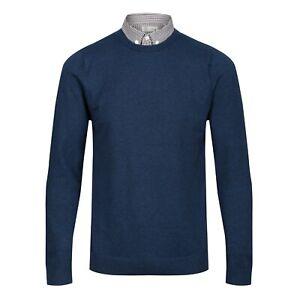 NEXT™ Mock Shirt Jumper New Mens Button Collar Crew Neck Long Sleeve Cotton Top