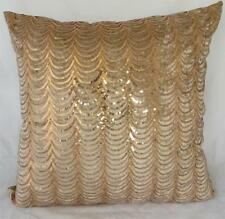 Sequin Copper-Gold Waves Luxe Chic European Cushion Cover 60cm Home Decor
