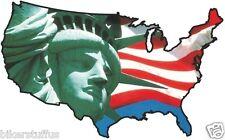 USA STATUE LIBERTY STICKER UNITED STATES MAP FLAG BUMPER STICKER