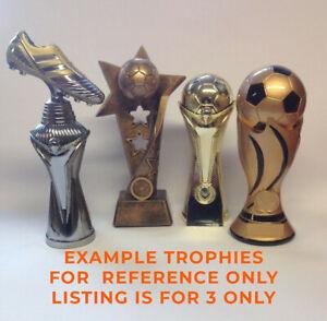Football trophy/trophies -  3 pack bundle - Free engraving - Large size.