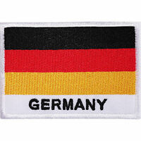 Germany Flag Embroidered Iron / Sew On Patch Deutschland German Shirt Bag Badge