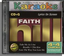 Karaoke CD+G - Faith Hill - New 4 Song CD! Love The Way You Love Me, This Kiss