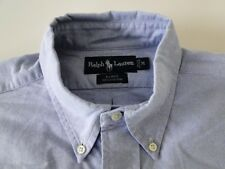 Ralp Lauren Blake Herren Hemd Langarm Blau Unifarben Gr. M