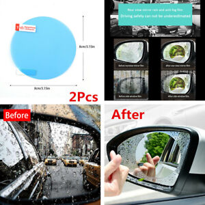 2Pcs Car Anti Fog Rainproof Rearview Mirror Round Protective Film Accessories