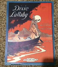 "[COL] Vintage Sheet Music ""Dixie Lullaby,"" by D. Portnoy and H. Dixon (1919)"