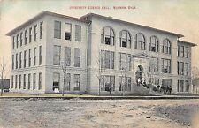 Norman Oklahoma University Science Hall Antique Postcard (J35363)