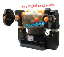 Double Automatic Table Tennis Ball Machine Dual Head Table Tennis Robot H