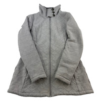 The North Face Sweater Womens Medium Gray Full Zip Outdoors Casual Ladies Jacket