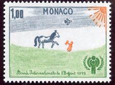 TIMBRE DE MONACO  N° 1182 ** DESSINS D'ENFANTS / CHEVAL ET ENFANT