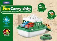 Kids Storage Ship & Parking Lot 2in1 Set Fun Carry Ship With 4pc Cars Gift