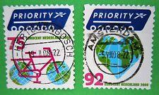 Nederland NVPH 2560 - 2561 Europa fiets en buiten Europa Hart 2008 gestempeld