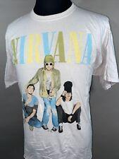 Nirvana Band T-Shirt Mens Big Size S/M Kurt Cobain Grunge Rock Alternative