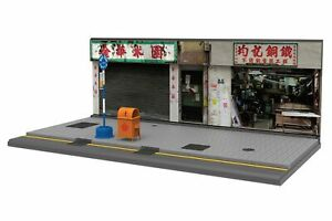 TINY Hong Kong City HK S4 Scale 1/35 Cartful Old Street diorama Painted model