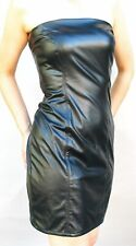 GUESS JEANS BLACK PU LEATHER SHEATH  DRESS   - size 9 OR 11
