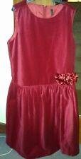 Girls Benneton Party Dress - Red Cottin VELVET Gorgeous  ...Age 11-12