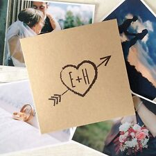 1x personalised 'Heart' CD DVD cover / sleeve for wedding photos video