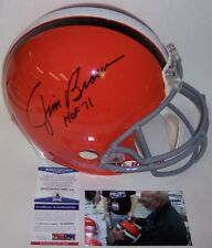 JIM BROWN HAND SIGNED CLEVELAND BROWNS FULL SIZE AUTHENTIC PRO HELMET HOF 71 PSA