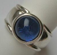 Ring FvS JOOP! blauer Stein mit Kornblume in 925 Silber Markenring Finger Gr. 57