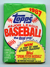 1987 Topps Baseball Wax Wrappers No Rips or Tears
