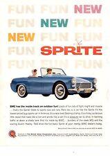 1961 AUSTIN-HEALEY SPRITE  ~  CLASSIC ORIGINAL BMC PRINT AD