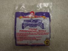 MIGHTY MORPHIN POWER RANGERS MCDONALD'S POWER MORPHER BUCKLE NIP