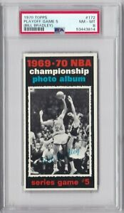 RG: 1970 Topps Basketball Card #172 Playoff Game #5 Knicks/Lakers - PSA 8