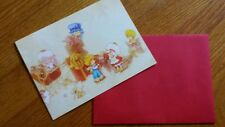 Vintage Strawberry Shortcake Christmas Card Envelope Characters Present 1984