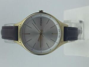 Pulsar Dress PVD Gold Plated Case Brown Leather Strap Ladies Watch PH8280X1