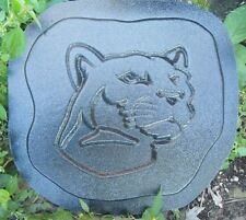 "Panther plaque mold plaster concrete shield mould 11"" x 10"" x 3/4"""