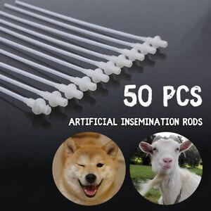 50PCS Artificial Insemination Rods Breeding Catheter Tube Dog Sheep Goat 10