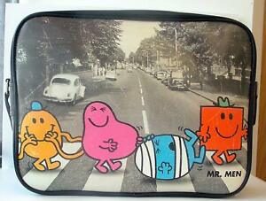 Mr Men Characters Messenger Bag with Mr Tickle, Mr Greedy, Mr Bump and Mr Strong