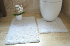 Tappeto da bagno bianco 100% Cotone