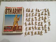 AIRFIX 01709 8TH ARMY SERIE COMPLETA 49 PEZZI CON SCATOLA SCALA HO