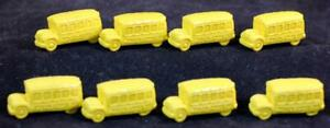 1991 Scholastic Magic School Bus Package Of 8 Yellow Erasers